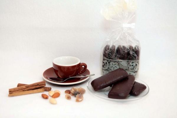 Ingwerpfefferkuchen mit Schokolade