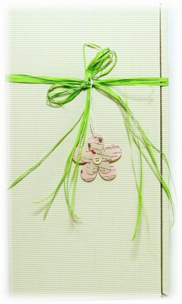 Geschenkkarton -Modern Creme- Blume