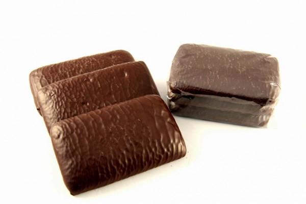 Dinkelpfefferkuchen mit Schokolade