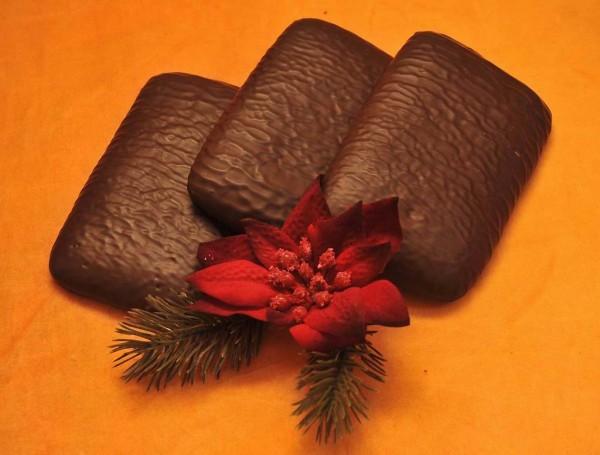 Vollkornpfefferkuchen mit Schokolade
